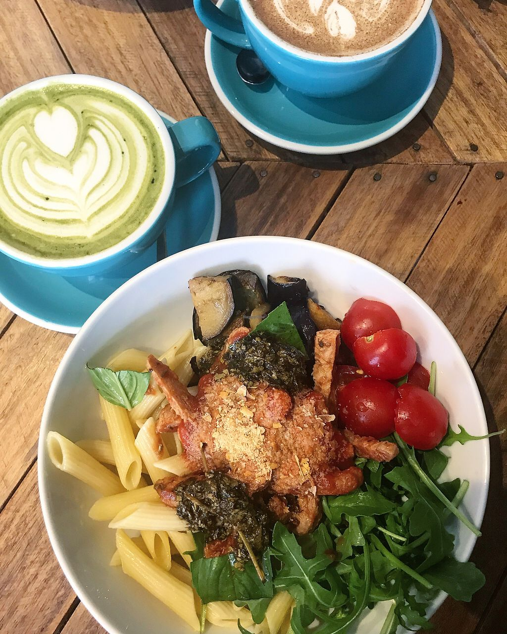 """Photo of Le Labo  by <a href=""""/members/profile/MusicalVeggie"""">MusicalVeggie</a> <br/> Daily Buddha bowl and matcha latte (oat milk) <br/> September 16, 2017  - <a href='/contact/abuse/image/100827/304939'>Report</a>"""