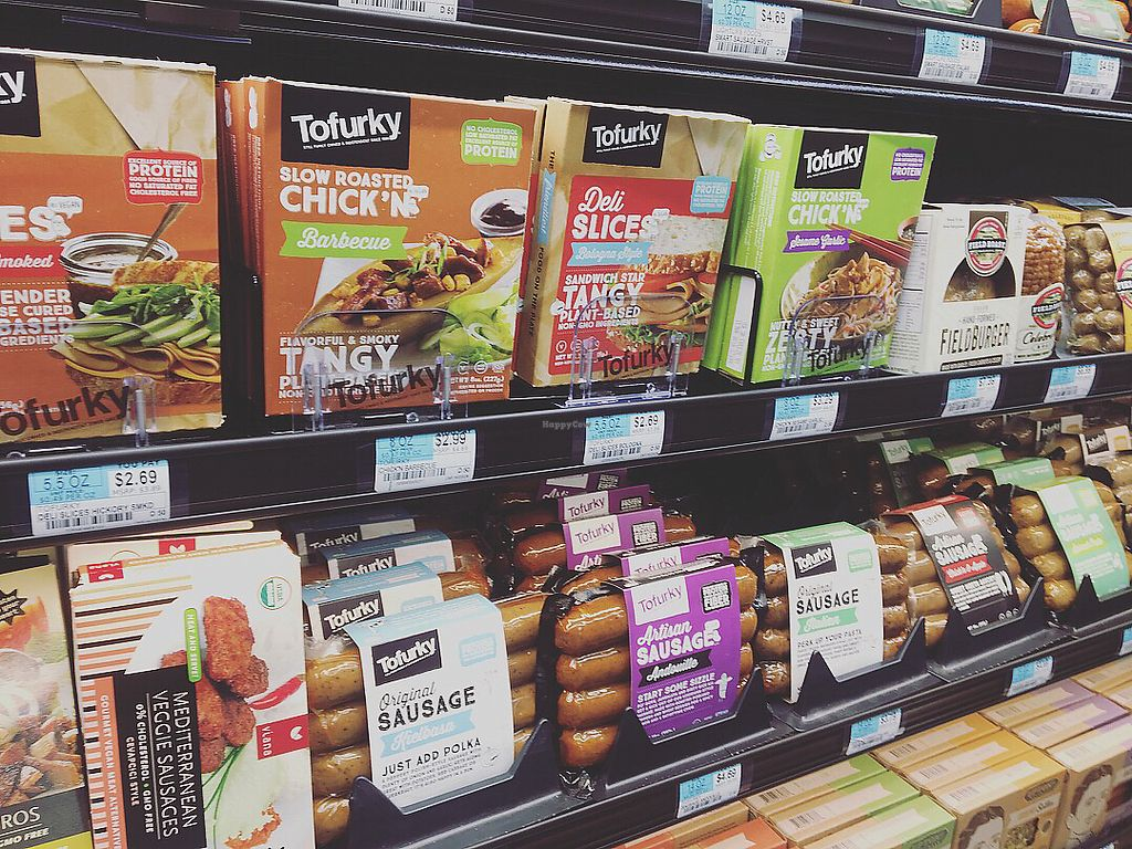 """Photo of Green Organic Market  by <a href=""""/members/profile/LilMsVegan"""">LilMsVegan</a> <br/>The Tofurkey aisle <br/> December 27, 2017  - <a href='/contact/abuse/image/100856/339714'>Report</a>"""