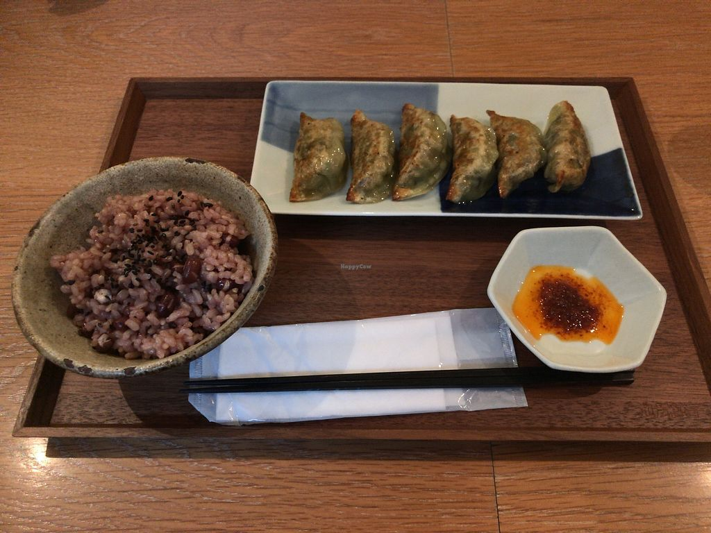 "Photo of Ikejiri Gyoza  by <a href=""/members/profile/Tomo%20Okabe"">Tomo Okabe</a> <br/>Vegan potsticker with optional rice <br/> September 20, 2017  - <a href='/contact/abuse/image/100893/306306'>Report</a>"