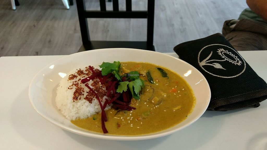 """Photo of Yummy Vegan Home - Ya Mi Rizi  by <a href=""""/members/profile/darkrabbit"""">darkrabbit</a> <br/>Curry with eggplants, beetroot, carrots and rice <br/> October 28, 2017  - <a href='/contact/abuse/image/100897/319440'>Report</a>"""