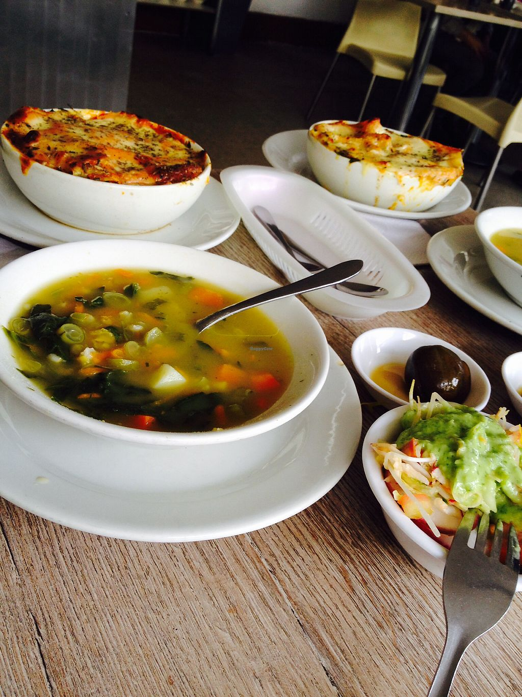 """Photo of Loto Azul Vegetariano  by <a href=""""/members/profile/Stangler"""">Stangler</a> <br/>Lunch / soup, lasagna, salad, juice, postre <br/> October 31, 2017  - <a href='/contact/abuse/image/10092/320554'>Report</a>"""