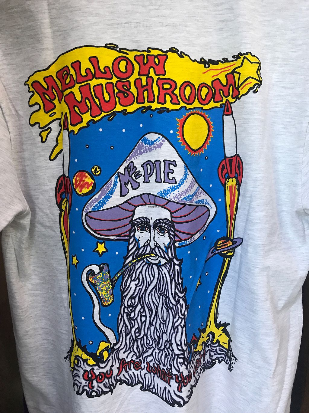 """Photo of Mellow Mushroom  by <a href=""""/members/profile/AmandaCox"""">AmandaCox</a> <br/>Cool Merch :)  <br/> September 13, 2017  - <a href='/contact/abuse/image/100940/304080'>Report</a>"""