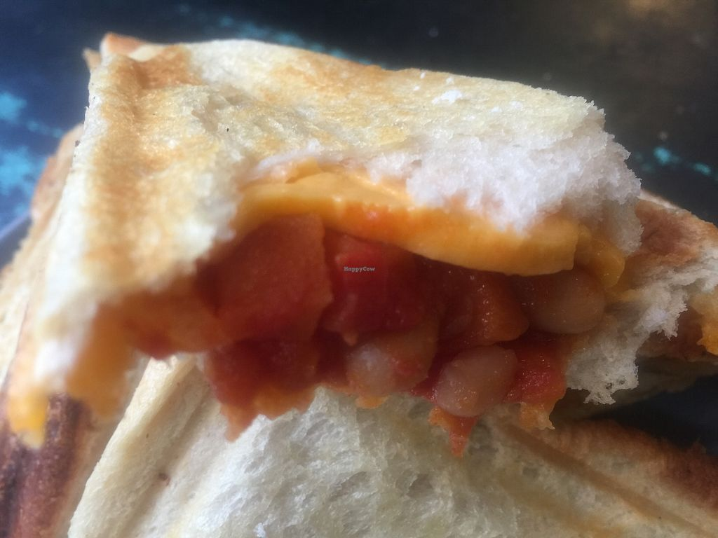 "Photo of Union Kiosk  by <a href=""/members/profile/Tiggy"">Tiggy</a> <br/>Home-made baked bean and vegan cheese jaffle  <br/> September 16, 2017  - <a href='/contact/abuse/image/100958/304925'>Report</a>"