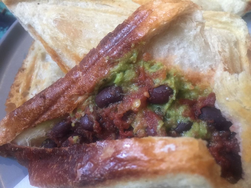 "Photo of Union Kiosk  by <a href=""/members/profile/Tiggy"">Tiggy</a> <br/>Black bean, salsa and guacamole jaffle <br/> September 16, 2017  - <a href='/contact/abuse/image/100958/304927'>Report</a>"