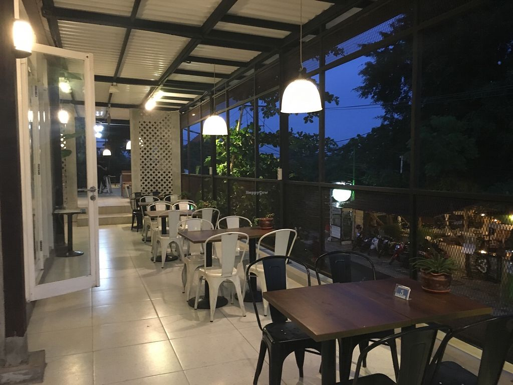 "Photo of Living Kitchen Bali  by <a href=""/members/profile/vanofvegan"">vanofvegan</a> <br/>Along the terrace <br/> January 7, 2018  - <a href='/contact/abuse/image/100972/343875'>Report</a>"