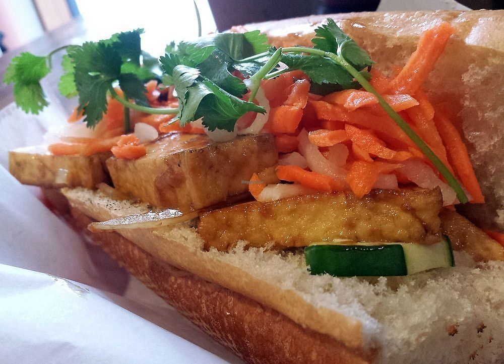 """Photo of Pho Square  by <a href=""""/members/profile/JWenner"""">JWenner</a> <br/>tofu banh mi sandwich  <br/> March 31, 2018  - <a href='/contact/abuse/image/101008/378604'>Report</a>"""