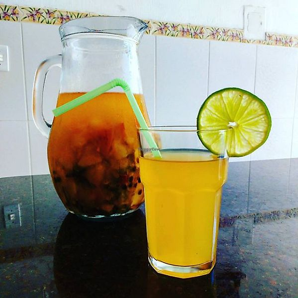"Photo of Natureba  by <a href=""/members/profile/itsumiyo"">itsumiyo</a> <br/>Pineapple, passion fruit, apple, ginger and seasonings juice <br/> September 15, 2017  - <a href='/contact/abuse/image/101022/304682'>Report</a>"