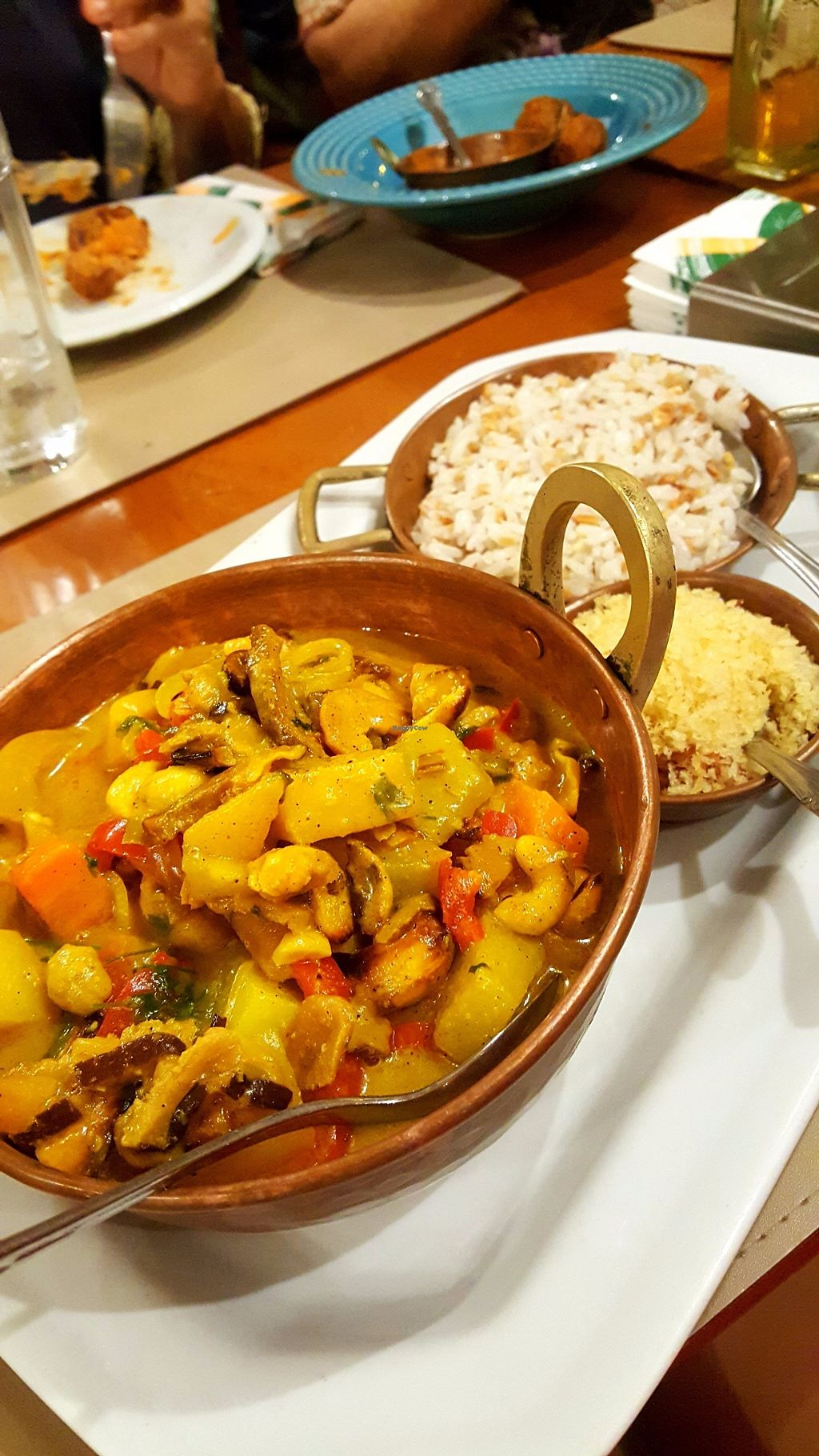"Photo of Cacimba Bistro  by <a href=""/members/profile/sarahssoares"">sarahssoares</a> <br/>Vegan moqueca with coconut rice and farofa <br/> September 19, 2017  - <a href='/contact/abuse/image/101044/306044'>Report</a>"