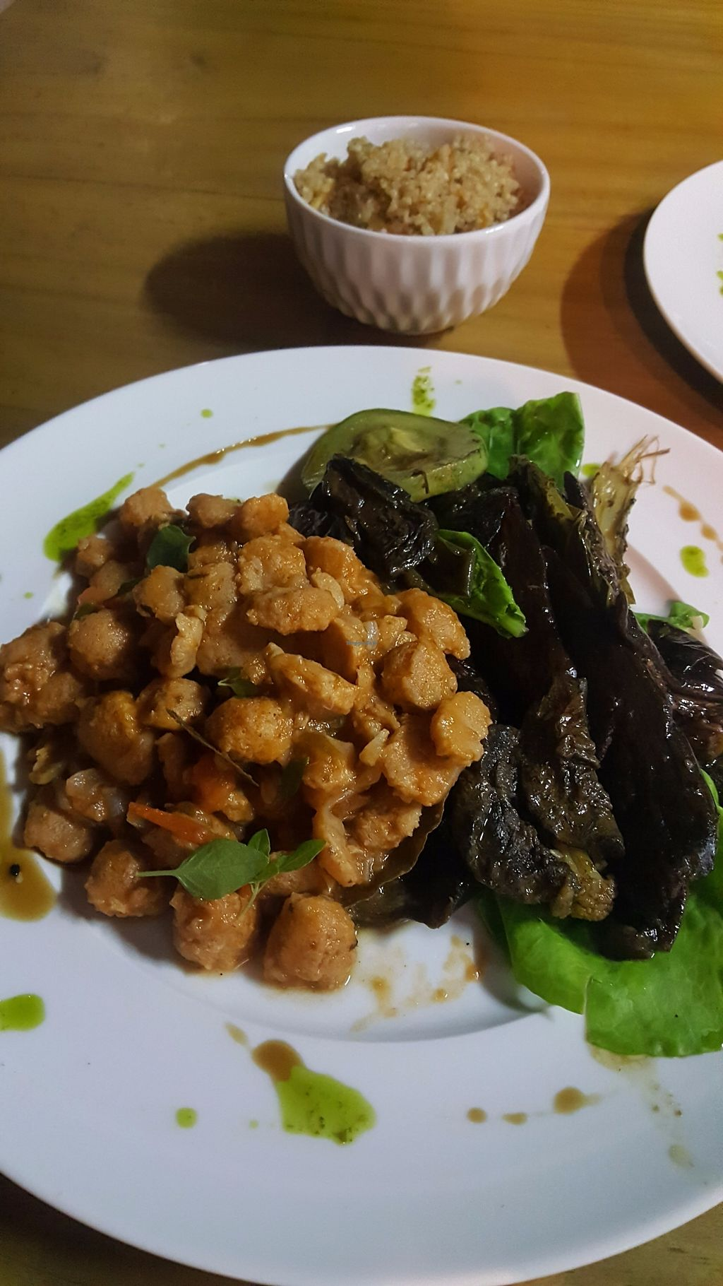 """Photo of Bio Comida Saudavel  by <a href=""""/members/profile/sarahssoares"""">sarahssoares</a> <br/>Soy meat with eggplant <br/> September 19, 2017  - <a href='/contact/abuse/image/101045/306041'>Report</a>"""