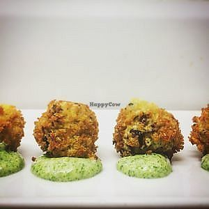 "Photo of Omni  by <a href=""/members/profile/Jessmcg20"">Jessmcg20</a> <br/>Mushroom croquettes with tarragon 'mayonnaise' <br/> October 19, 2017  - <a href='/contact/abuse/image/101049/316619'>Report</a>"