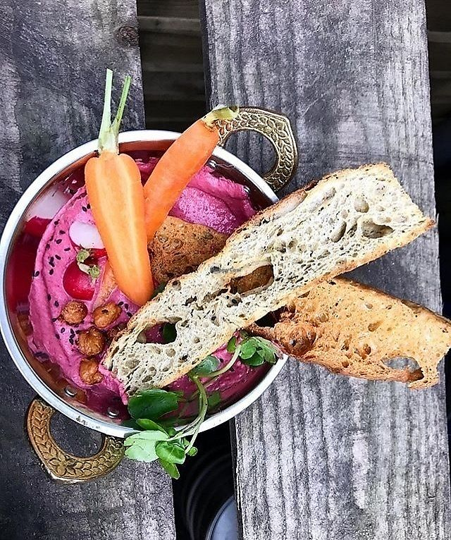 "Photo of Omni  by <a href=""/members/profile/Jessmcg20"">Jessmcg20</a> <br/>Beetroot hummus side dish <br/> October 19, 2017  - <a href='/contact/abuse/image/101049/316621'>Report</a>"