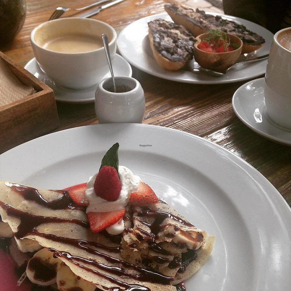 "Photo of Plan V Cafe  by <a href=""/members/profile/hakunapatata"">hakunapatata</a> <br/>Coffee, hazelnut spread crepe and molletes (picture from my personal blog: http://instagram.com/hakuna_patata_) <br/> October 16, 2017  - <a href='/contact/abuse/image/101064/315773'>Report</a>"