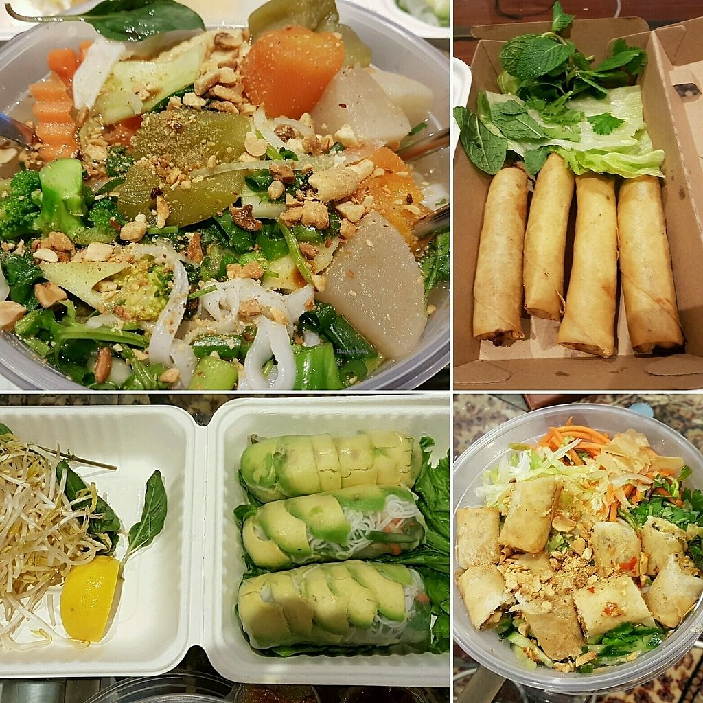 """Photo of Wat the Pho  by <a href=""""/members/profile/Catorotoro"""">Catorotoro</a> <br/>Pho, Spring Rolls, Avocado Rolls, Vermicelli   <br/> September 16, 2017  - <a href='/contact/abuse/image/101073/305039'>Report</a>"""