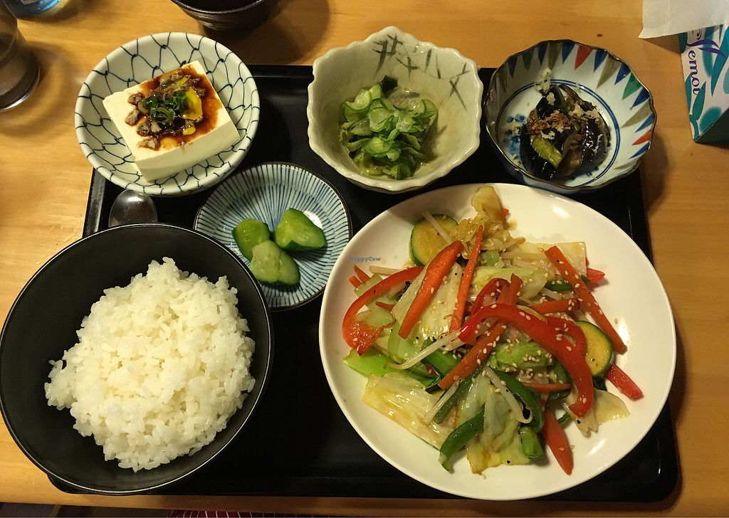 """Photo of Osakaya Dining Hall  by <a href=""""/members/profile/Sterling"""">Sterling</a> <br/>Stir fry menu without Miso Soup <br/> September 24, 2017  - <a href='/contact/abuse/image/101084/307625'>Report</a>"""