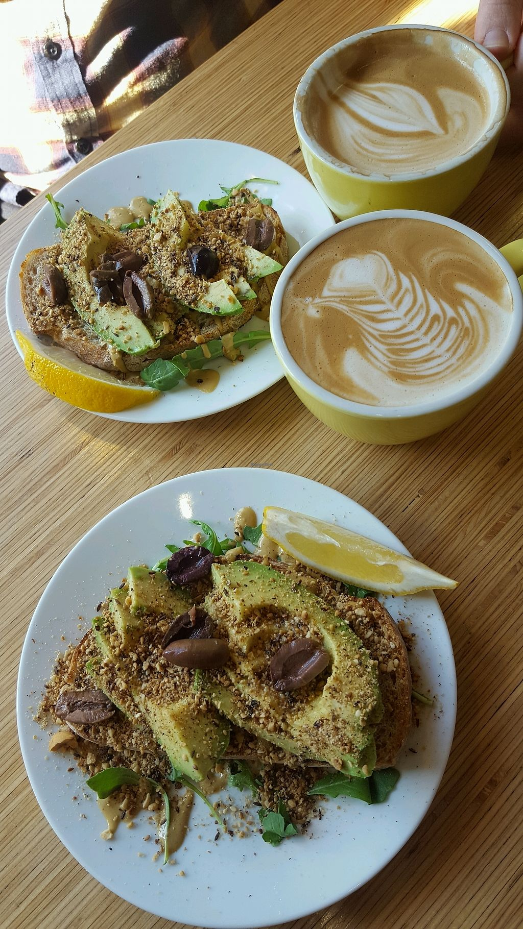 """Photo of Double Black  by <a href=""""/members/profile/ChantelleSmith"""">ChantelleSmith</a> <br/>Avocado toast can be made vegan (skip the cheese) and good coffees with almond milk <br/> September 25, 2017  - <a href='/contact/abuse/image/101113/308091'>Report</a>"""