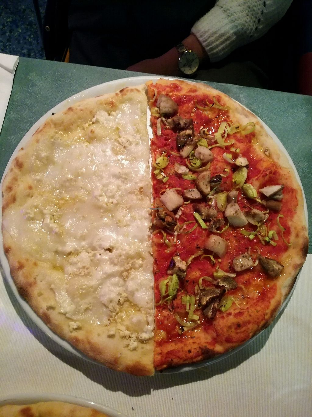 "Photo of Veganfruttariano  by <a href=""/members/profile/B%C3%A1rbaraPatr%C3%ADcio"">BárbaraPatrício</a> <br/>4 cheese and porcini pizza <br/> February 3, 2018  - <a href='/contact/abuse/image/101127/354600'>Report</a>"
