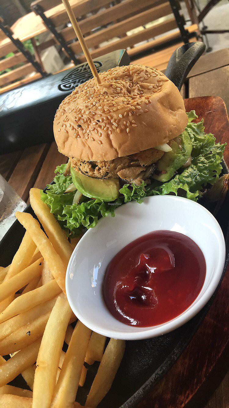 """Photo of What Else Cafe  by <a href=""""/members/profile/AnitaGu%C3%B0laug"""">AnitaGuðlaug</a> <br/>The vegan burger!!!  <br/> October 25, 2017  - <a href='/contact/abuse/image/101159/318689'>Report</a>"""