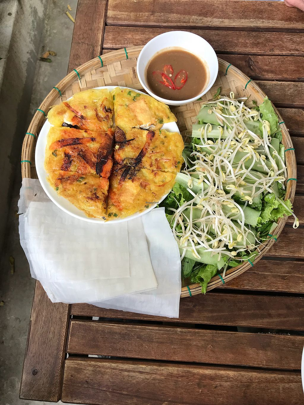 """Photo of What Else Cafe  by <a href=""""/members/profile/vegetariangirl"""">vegetariangirl</a> <br/>Savoury vegan crepe <br/> January 20, 2018  - <a href='/contact/abuse/image/101159/348753'>Report</a>"""