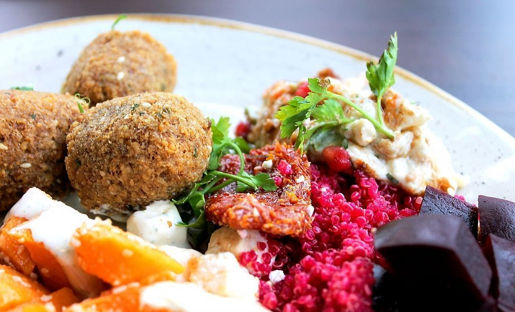 """Photo of Mezza  by <a href=""""/members/profile/RomanSt%C3%A1r"""">RomanStár</a> <br/>Falafel, quinoa, hummus etc.! Lunch time <br/> September 17, 2017  - <a href='/contact/abuse/image/101168/305443'>Report</a>"""