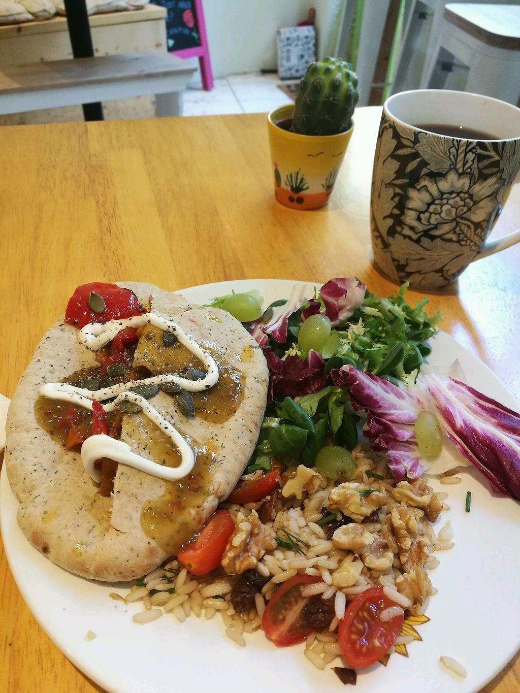 """Photo of Purity Petal Cafe  by <a href=""""/members/profile/JemmaStovell"""">JemmaStovell</a> <br/>Butternut Squash Pitta <br/> April 20, 2018  - <a href='/contact/abuse/image/101172/388399'>Report</a>"""
