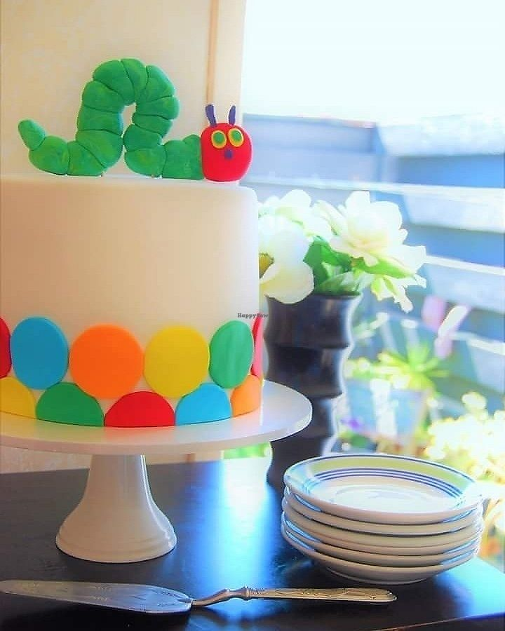 """Photo of Temptation Cakes  by <a href=""""/members/profile/TemptationCakes"""">TemptationCakes</a> <br/>Vegan kids cakes this cake sits at $250 delivered <br/> September 19, 2017  - <a href='/contact/abuse/image/101196/306102'>Report</a>"""