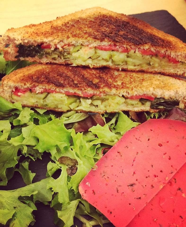 """Photo of L'Incubateur de Fraîcheur  by <a href=""""/members/profile/burgervege"""">burgervege</a> <br/>Hot grilled sandwich with cheese and avocado <br/> March 4, 2018  - <a href='/contact/abuse/image/101202/366689'>Report</a>"""