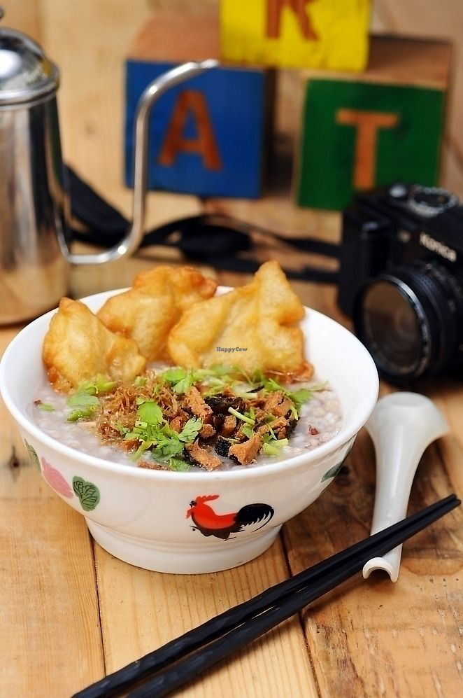 """Photo of Art Nature Cafe  by <a href=""""/members/profile/artnaturecafe"""">artnaturecafe</a> <br/>F021 A-ma recipe Oyster Mushroom Porridge (Brown Rice) <br/> September 29, 2017  - <a href='/contact/abuse/image/101214/309648'>Report</a>"""