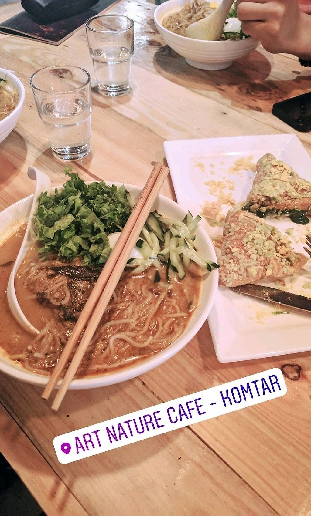 """Photo of Art Nature Cafe  by <a href=""""/members/profile/sariebeary"""">sariebeary</a> <br/>laksa and matcha croissant (too sweet) <br/> February 3, 2018  - <a href='/contact/abuse/image/101214/354425'>Report</a>"""