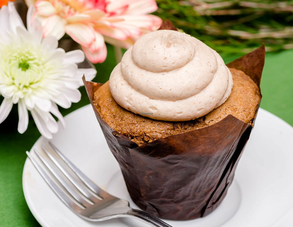 "Photo of The Copper Q  by <a href=""/members/profile/Linderella"">Linderella</a> <br/>Vegan Maple Cupcake with Maple Vegan Buttercream Frosting - Yum! <br/> September 18, 2017  - <a href='/contact/abuse/image/101225/305892'>Report</a>"