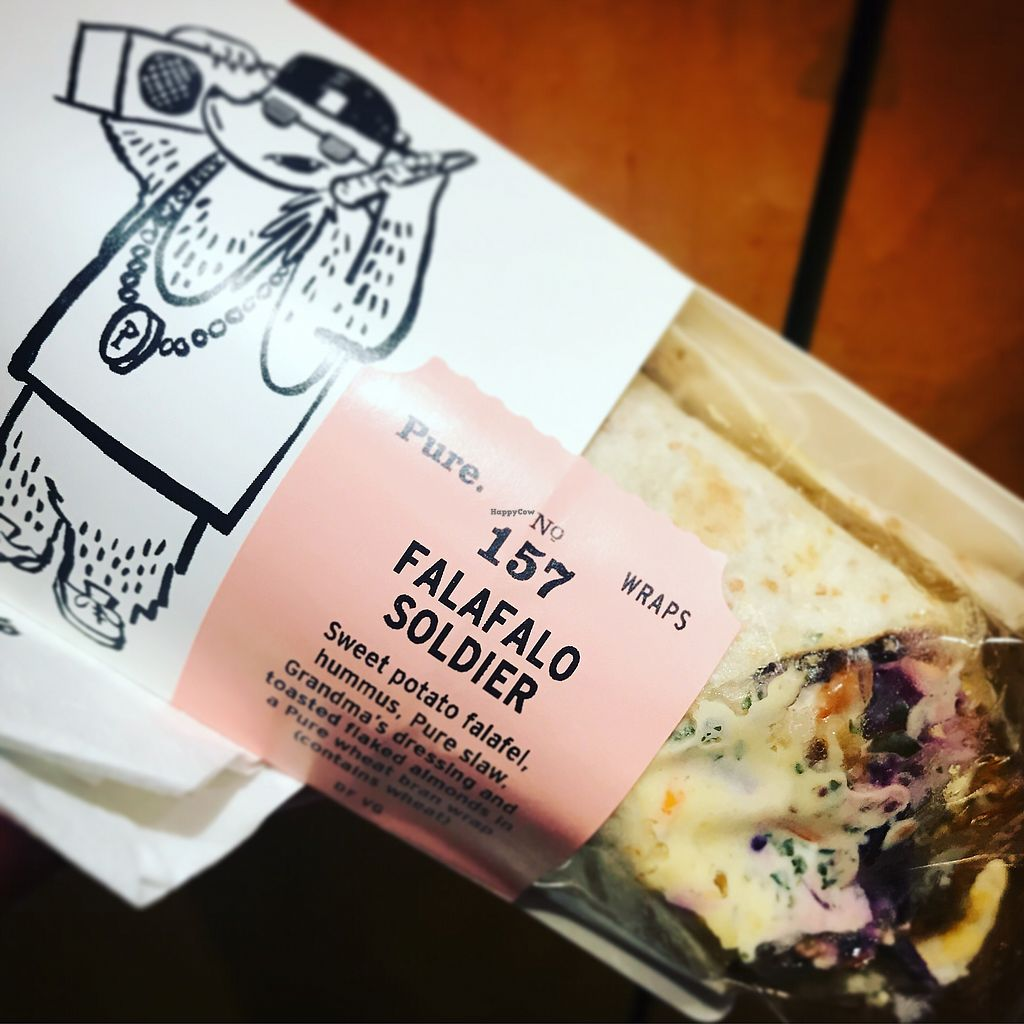 """Photo of Pure - Waterloo  by <a href=""""/members/profile/The%20London%20Vegan"""">The London Vegan</a> <br/>falafalo soldier wrap - best shop falafel wrap ever!  <br/> September 19, 2017  - <a href='/contact/abuse/image/101231/305975'>Report</a>"""