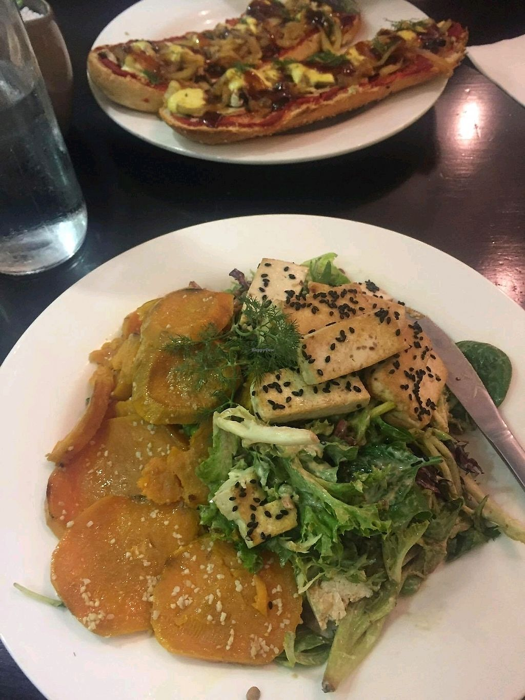 "Photo of Orchid Vegetarian Cafe  by <a href=""/members/profile/SeanCarlyon"">SeanCarlyon</a> <br/>delicious vegan salad and vegan pizza subs! awesome flavour!  <br/> October 10, 2017  - <a href='/contact/abuse/image/101246/313838'>Report</a>"
