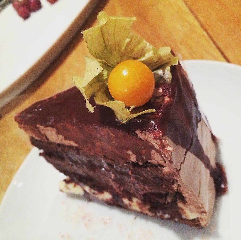 """Photo of Citykonditoriet  by <a href=""""/members/profile/treemelody"""">treemelody</a> <br/>Amazing mint chocolate & raspberry cake! <br/> October 26, 2017  - <a href='/contact/abuse/image/101250/319049'>Report</a>"""