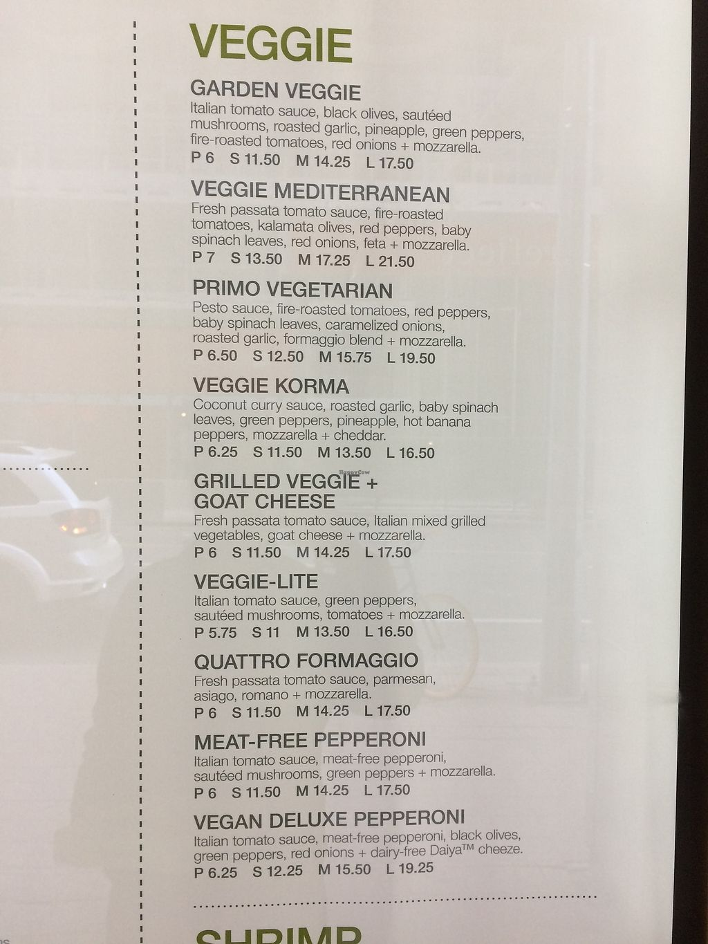"""Photo of Panago Pizza - Eglinton Ave  by <a href=""""/members/profile/jmt"""">jmt</a> <br/>Vegetarian Options <br/> September 19, 2017  - <a href='/contact/abuse/image/101273/306205'>Report</a>"""