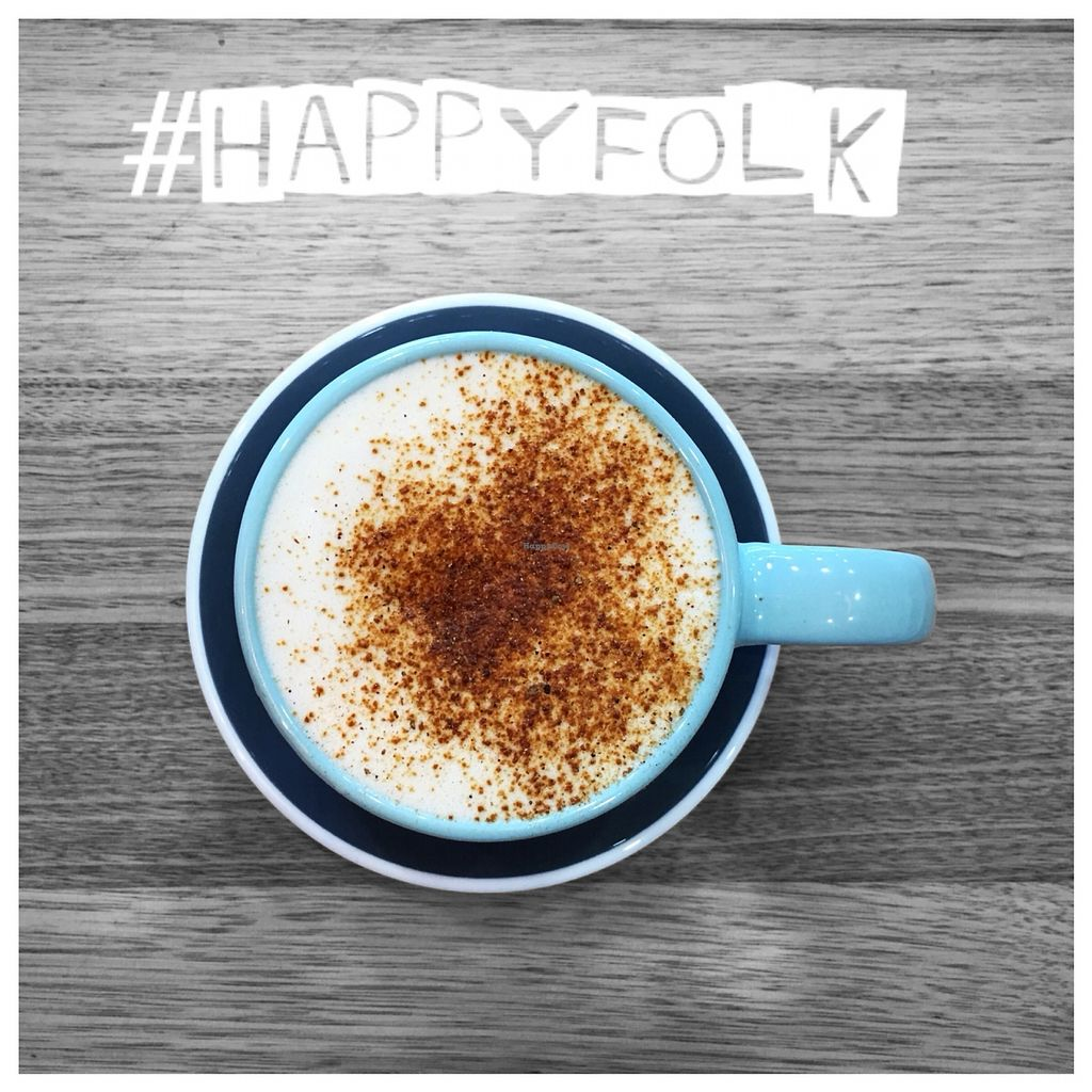 "Photo of HappyFolk  by <a href=""/members/profile/ElenaSimak"">ElenaSimak</a> <br/>Vegan Chai Latte with Bonsoy milk and sweetened with maple syrup. 