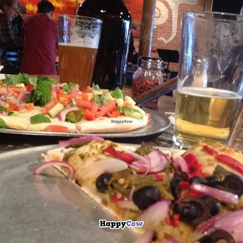 """Photo of CLOSED: DNote  by <a href=""""/members/profile/Jeff%20M"""">Jeff M</a> <br/>vegan pizzas (no cheese) <br/> August 30, 2013  - <a href='/contact/abuse/image/10131/54077'>Report</a>"""
