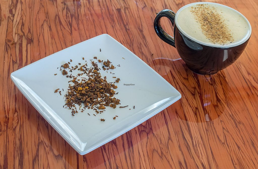 "Photo of Cafe Red  by <a href=""/members/profile/haley_paige91"">haley_paige91</a> <br/>Turmeric Rooibos Chai with Macadamia Milk <br/> September 20, 2017  - <a href='/contact/abuse/image/101350/306546'>Report</a>"