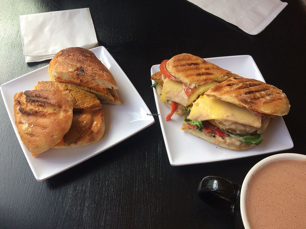 "Photo of Cafe Red  by <a href=""/members/profile/fullbellyhappyheart"">fullbellyhappyheart</a> <br/>Breakfast sandwiches with vegan chickpea patties <br/> September 23, 2017  - <a href='/contact/abuse/image/101350/307613'>Report</a>"