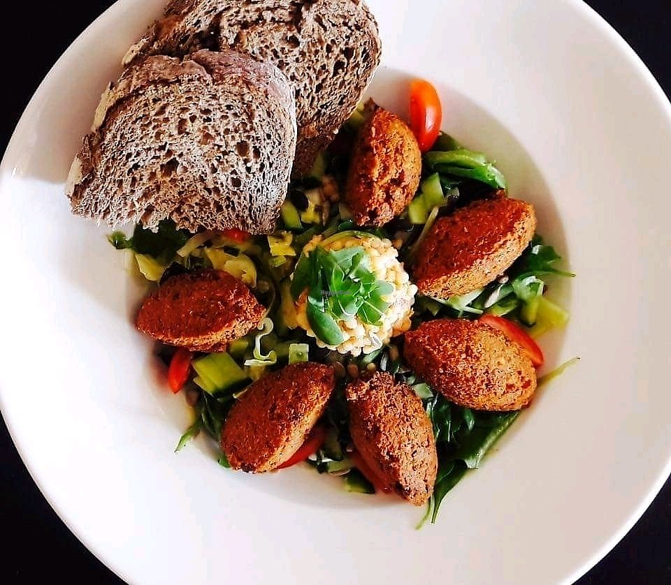 """Photo of Effe Anders  by <a href=""""/members/profile/myrthestortelers"""">myrthestortelers</a> <br/>Homemade falafel salad <br/> September 25, 2017  - <a href='/contact/abuse/image/101382/308099'>Report</a>"""