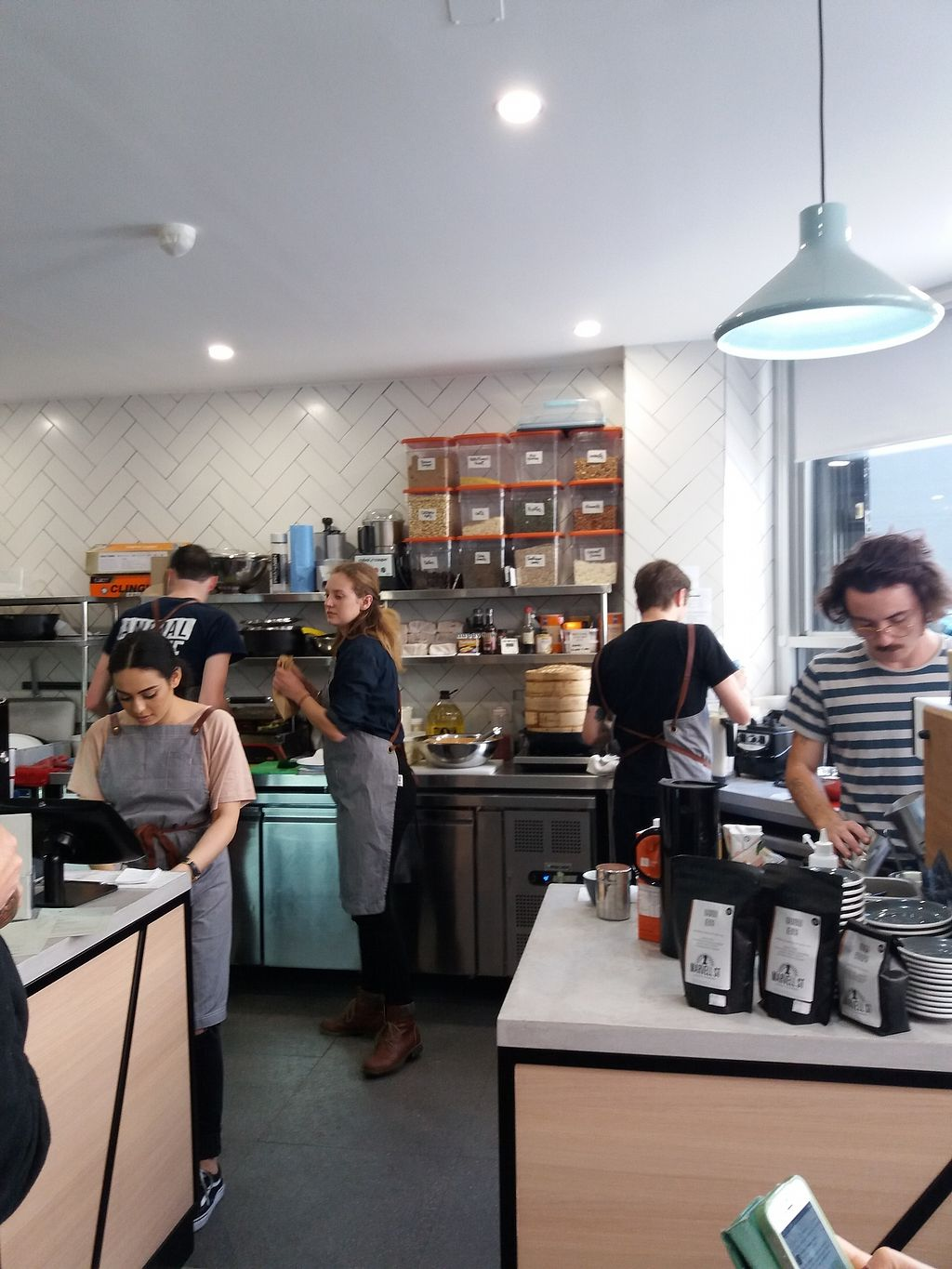 "Photo of Shift Eatery  by <a href=""/members/profile/veganvirtues"">veganvirtues</a> <br/>View of open kitchen <br/> September 26, 2017  - <a href='/contact/abuse/image/101383/308599'>Report</a>"