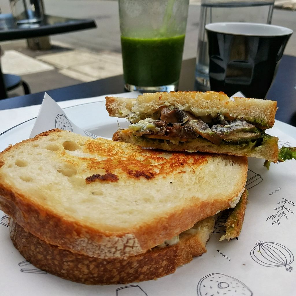 "Photo of Shift Eatery  by <a href=""/members/profile/Cycliz"">Cycliz</a> <br/>My shroom toastie and green smoothie <br/> January 5, 2018  - <a href='/contact/abuse/image/101383/343372'>Report</a>"