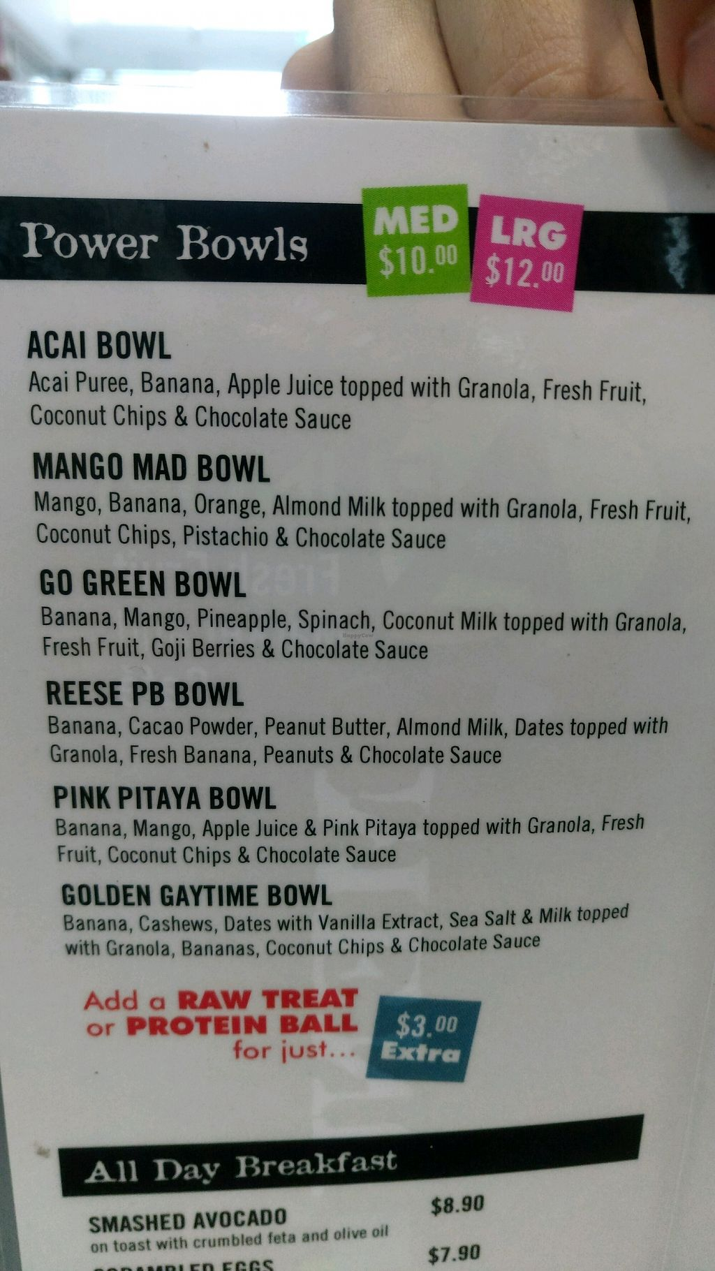"Photo of CLOSED: Arundel Fresh Fruit Market  by <a href=""/members/profile/AliGlohe"">AliGlohe</a> <br/>Power bowl menu <br/> September 21, 2017  - <a href='/contact/abuse/image/101386/306929'>Report</a>"