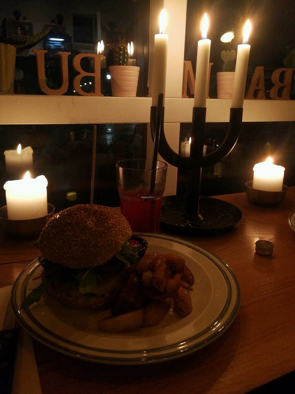 """Photo of CLOSED: Cafe Bambu  by <a href=""""/members/profile/SindujaSubhashChand"""">SindujaSubhashChand</a> <br/>vegan burger with fresh juice <br/> October 11, 2017  - <a href='/contact/abuse/image/101387/314269'>Report</a>"""