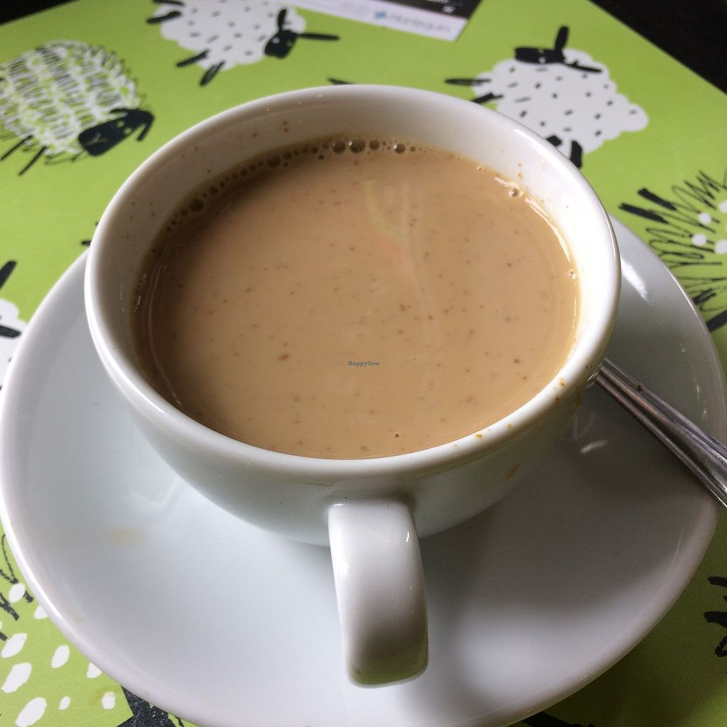 """Photo of REMOVED: Health-E-Cafe  by <a href=""""/members/profile/Hoggy"""">Hoggy</a> <br/>'lumpy' soya latte, served barely warm. (Soya not curdled, I guess the lumps are coffee powder?) <br/> September 23, 2017  - <a href='/contact/abuse/image/101400/307484'>Report</a>"""