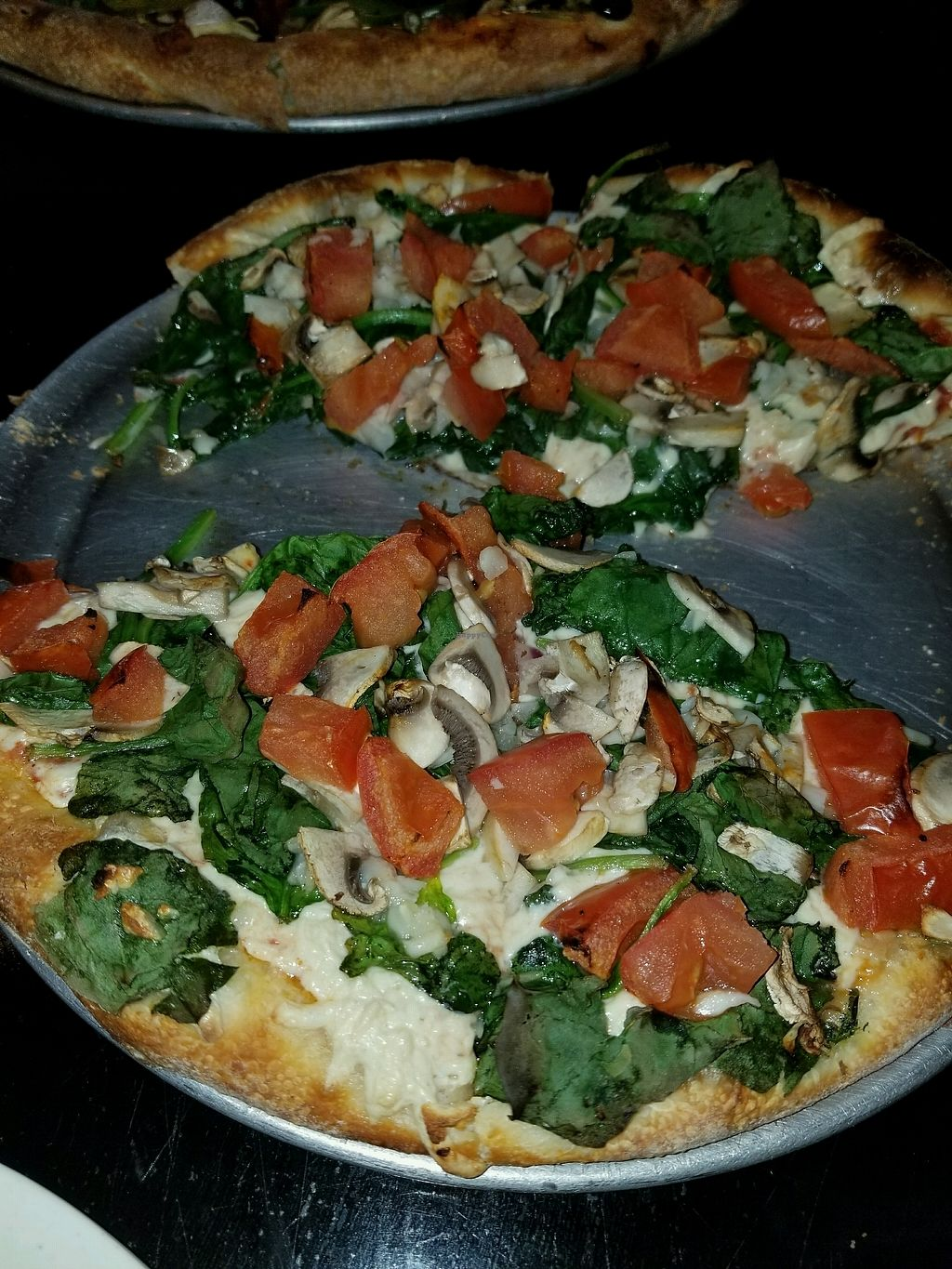 "Photo of CLOSED: Pizza My Heart  by <a href=""/members/profile/Latishaaaa"">Latishaaaa</a> <br/>Vegan Pizza with tomatoes, mushrooms and spinach <br/> October 4, 2017  - <a href='/contact/abuse/image/101425/311550'>Report</a>"