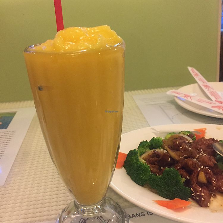 """Photo of Loving Hut  by <a href=""""/members/profile/LaurenBlue"""">LaurenBlue</a> <br/>mango smoothie!  <br/> June 13, 2017  - <a href='/contact/abuse/image/10147/268836'>Report</a>"""