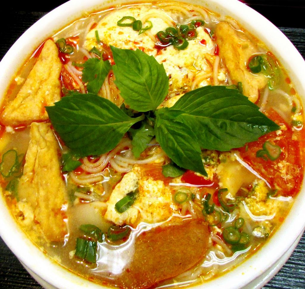 Photo of Loving Hut  by blissfulyogi <br/>Virtuous Noodles (Bun Rieu) <br/> December 10, 2014  - <a href='/contact/abuse/image/10147/87676'>Report</a>