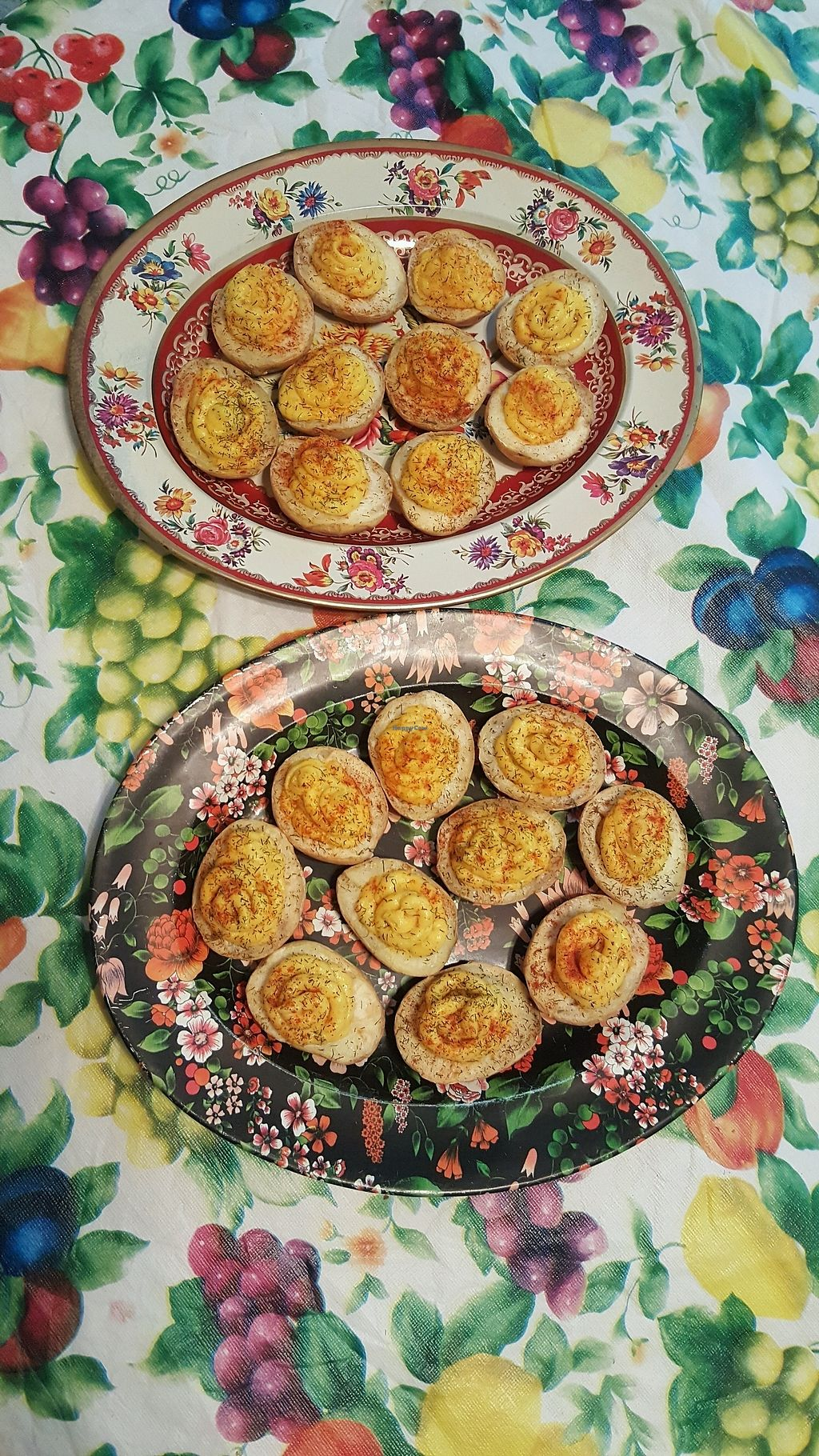 "Photo of Vahimsa  by <a href=""/members/profile/beccajane"">beccajane</a> <br/>vegan deviled potatoes for potluck  <br/> September 23, 2017  - <a href='/contact/abuse/image/101491/307292'>Report</a>"