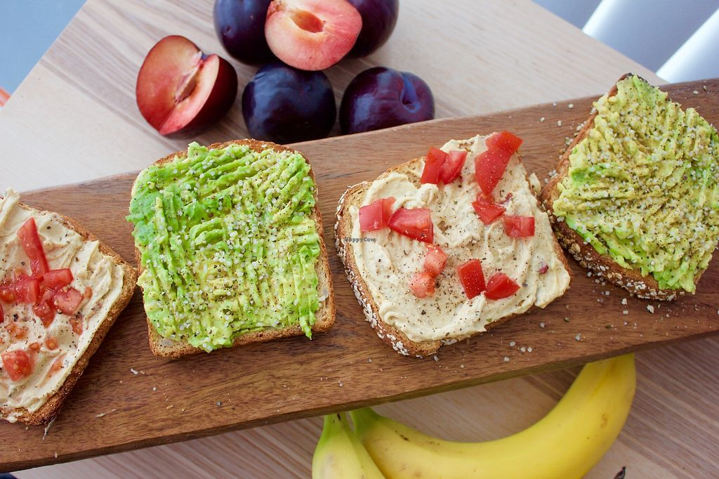 """Photo of Chef Velasquez  by <a href=""""/members/profile/veronicavegana"""">veronicavegana</a> <br/>Avocado and Humus Toast Bar! Great for meetings or an addition to a breakfast bar! <br/> September 25, 2017  - <a href='/contact/abuse/image/101511/308073'>Report</a>"""