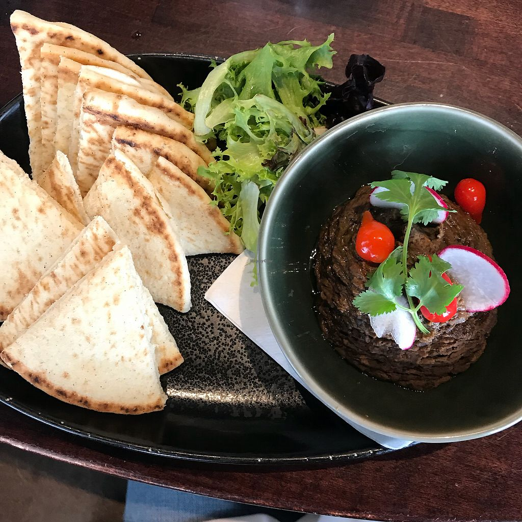"""Photo of Lighthouse Grill  by <a href=""""/members/profile/Sarah%20P"""">Sarah P</a> <br/>Black bean hummus with pita <br/> March 25, 2018  - <a href='/contact/abuse/image/101574/375903'>Report</a>"""