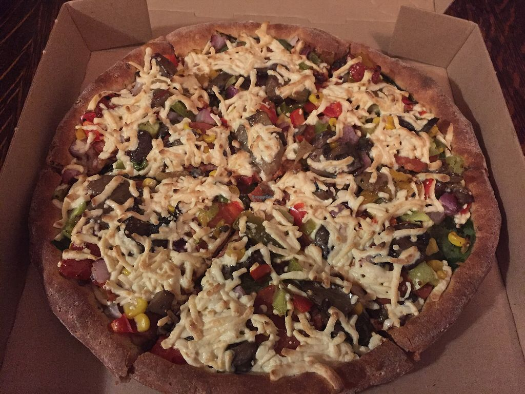 """Photo of Panago Pizza  by <a href=""""/members/profile/ChelseaAprilNovak"""">ChelseaAprilNovak</a> <br/>I created my own Daiya-topped monstrosity <br/> September 30, 2017  - <a href='/contact/abuse/image/101606/309970'>Report</a>"""